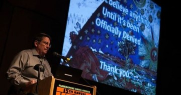 James Clarkson speaking at the McMenamins UFO Festival May 2014